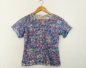 80's Holey Absract Pastel Top