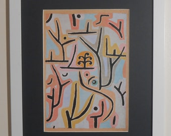 "Mounted and Framed - Park Near Lucerne Print by Paul Klee - 16"" x 12"""