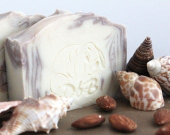 Coconut Ginger Almond, coconut oil soap, olive oil soap, all natural soap, palm free soap, vegan soap, lightly scented