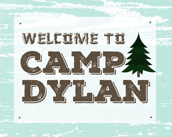 Camping Signs Personalized Camping Party Decor Printable Signs