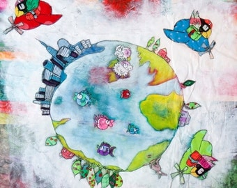 Small world print