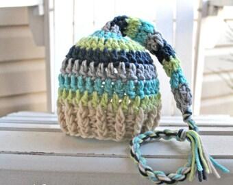 Baby Boy Hat, Baby Hat, Baby Boy Beanie, Baby Boy Beanies, Crochet, Newborn Hats, Infant Hat, Striped Hat, Baby Photo Prop,