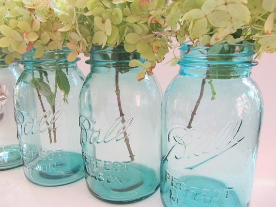 Blue mason jars ball perfect canning jarquart size