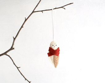 Felt Barn Owl Ornament - Christmas Ornament