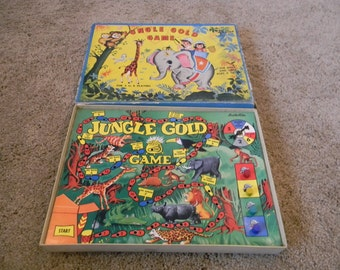 Rare Vintage 1940's Tee Pee Jungle Gold Board Game 5 Star