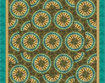 """New York Beauty Quilt - """"Seven Circles Make a Square"""""""