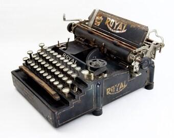 Royal No. 5 Antique Typewriter - Decorative Antique Typewriter - Royal Flatbed Antique Typewriter, Rustic, Decorative, Beautiful