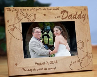 """Personalized """"Is her Daddy"""" Wedding bells Picture Frame"""