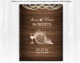 Wine Wedding Guest Book Custom Guest Book Personalized Wood Guest Book Winery Guest Book Wedding Guestbook Rustic Guest Book Country