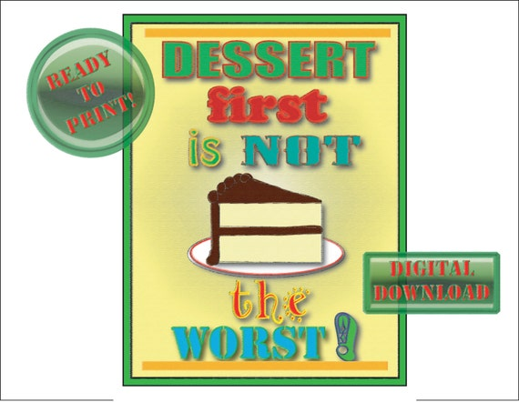 Dessert first sign printable retro 50s diner style kitchen for 50s diner style kitchen