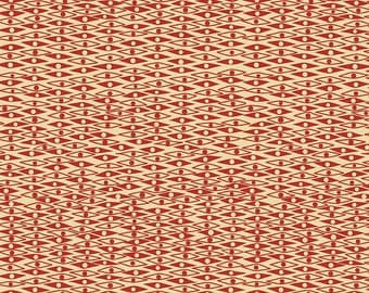 Penny Rose Fabrics -  Mid Mod C6144 Red - Quilt, Quilting, Clothing, Crafts