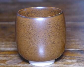Oilspot porcelain cup