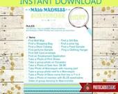 Mall Scavenger Hunt Item List | PDF | INSTANT Download | Digital | 8.5x11 | Mall Madness | Scavenger | Shopping | Printable Scavenger |