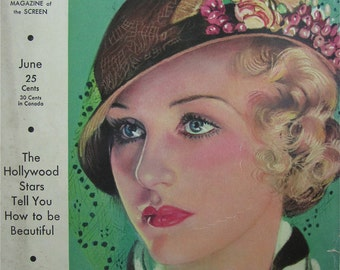 Original June 1932 Madge Evans Photoplay Magazine Cover By Earl Christy - Hollywood's Golden Age