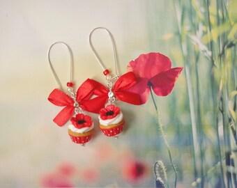 earrings poppy cupcakes