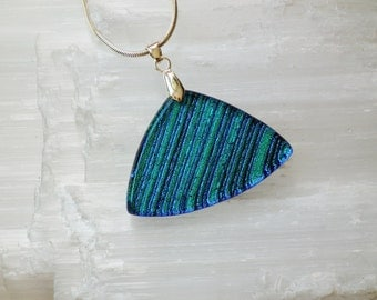 P3- Dichroic glass pendant and sterling silver .925