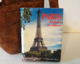 Vintage Paris postcard book, vintage Paris postcards, Paris postcards