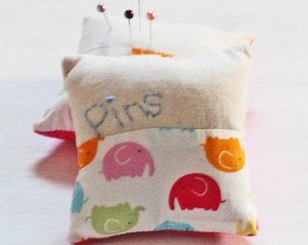Personalised Pin Cushion - Elephants