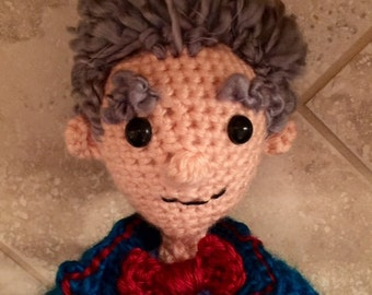 Dr Who Third Doctor Crochet Doll