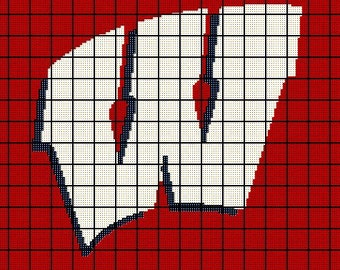 University of Wisconsin Madison Badgers - Crochet Afghan Pattern - NCAA