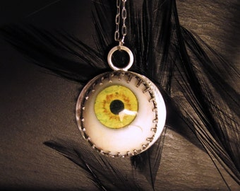 Real Glass Eye Necklace