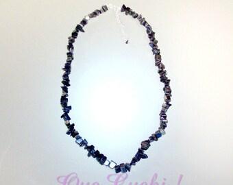 Hematite chips Necklace 44 cm around the neck