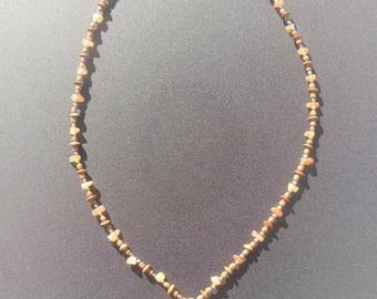 Aventurine Amber chips Necklace holder glasses 60cm around the neck