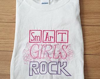 Smart Girls Rock! T-Shirt, Tee Shirt, Science Girls, Girl, Periodic Elements, Custom Shirt - YOU CHOOSE COLOUR