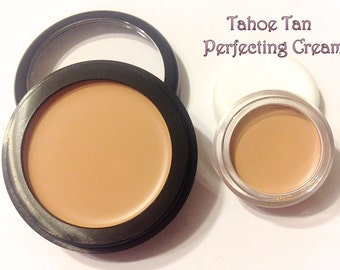 TAHOE TAN Perfecting Cream Foundation - Creamy Foundation Concealer Makeup - Vegan Gluten Free