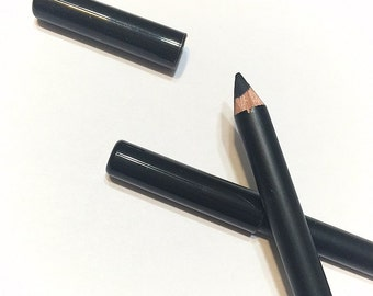 ONYX Black Mineral EYE LINER Wood Pencil - Natural Sunflower Seed & Coconut Oil Based Eye LIner Makeup