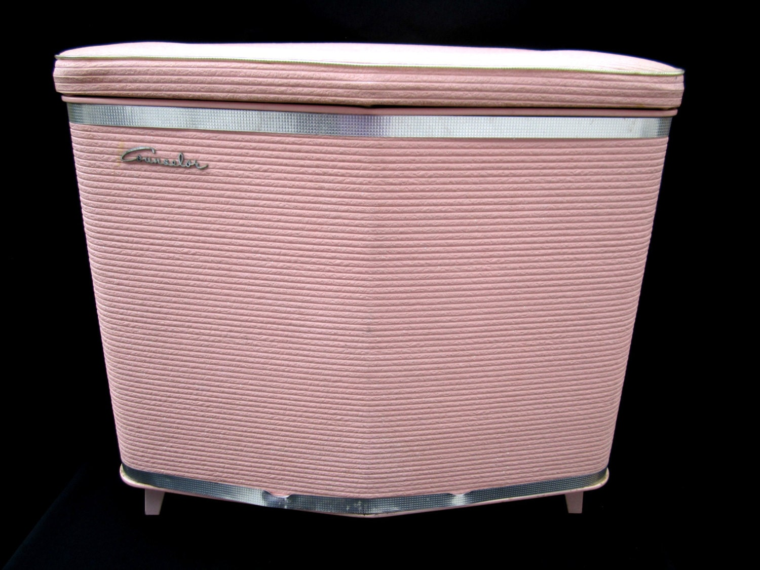 Clothes Hamper Pink Counselor Clothes Bin Laundry Vintage Mid