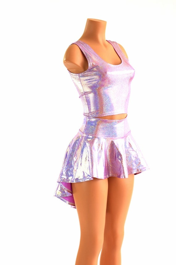 3PC Rave Outfit Lilac Purple Sparkly Jewel by CoquetryClothing