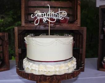 Graduation Cake Topper, Class of 2016, Graduation Party, Graduation Decor, Graduation