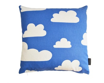 Scandinavian Swedish Farg & Form fabric Kids cushion cover - Blue Clouds