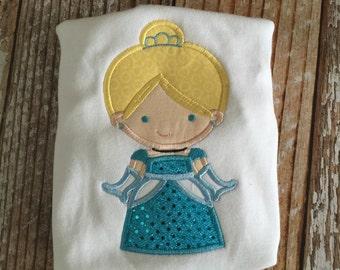 Cinderella appliqued shirt