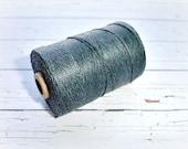 4 ply Irish Waxed Linen Cord Charcoal Grey - 1 Yard