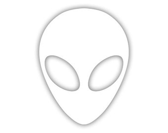 Alien Head decal