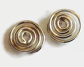 Sterling Silver Studs Handmade, Minimalist Jewelry, Handcrafted Artisan Earrings