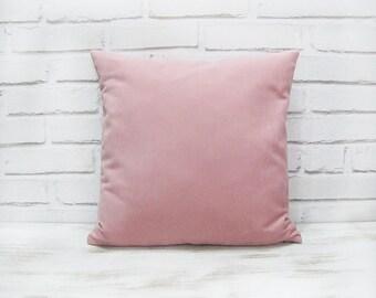 Fast shipping/Powder pink or gray vegan suede fabric pillow cover/modern scandinavian  home decor/housewarming gift -1pcs