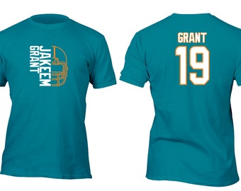 Limited Edition Teal Dolphins Grant Opt 4 Football Shirt All sizes up to Plus 5x