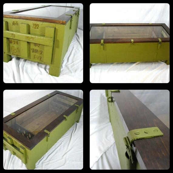 Mosin Nagant Coffee TableCrate TableRepurposed Coffee