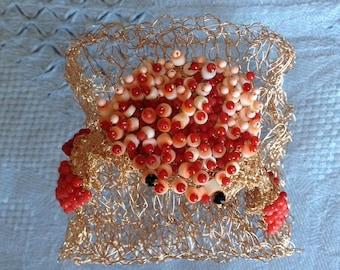 Crab - bracelet/necklace/ jewel – handmade.