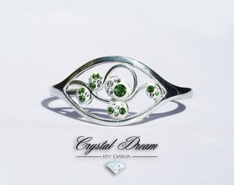 Swarovski Crystal Green Ivy Bracelet Bangle