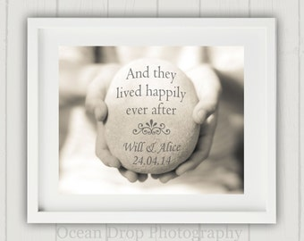 Unique Wedding Gift, Personalized Wedding Print, Personalized Wedding Gift, Wedding Present, Engagement Gift, Happily Ever After Print