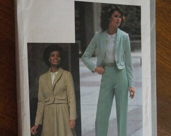 Simplicity 8455, sizes 6-8, suits, pants, skirt, blouse, jacket, separates, UNCUT sewing pattern, craft supplies