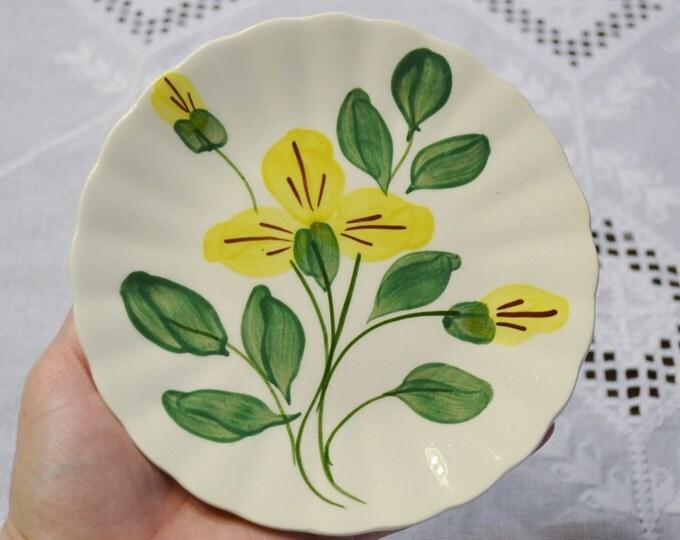 Vintage Blue Ridge Pottery Bread Dessert Plate Yellow Flower Southern Potteries SPI PanchosPorch
