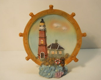 Lighthouse Figurine Hand painted Decorative Collectible  n691