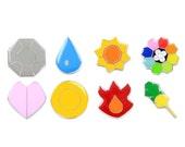 ON SALE Pokemon Badges Gen 1 - Kanto League