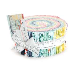 """Grand Canal Jelly Roll by Kate Spain for Moda, 40 - 2 1/2"""" x 42"""" strips"""