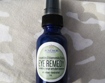 Revitalizing Eye Gel with Cucumber, Aloe and Chamomile Essences /// Eye Remedy /// Organic skincare, spa, facial, organic ingredients